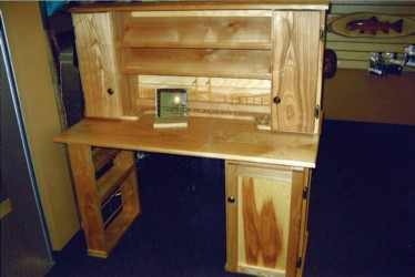 Therefore Every Custom Order....fly Tying Table, Log Furniture, Fish  Carving Etc. Includes A (to Scale) Drawing At No Additional Charge.